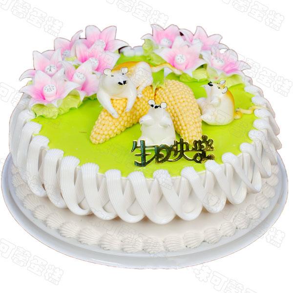 鲜奶生日蛋糕图片 鲜奶生日蛋糕图片大全 三层鲜奶生日蛋糕图片图片