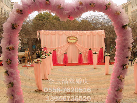 效果图农村婚礼  豪华酒店主题婚礼大厅迎宾区布置图片案例 小型婚庆